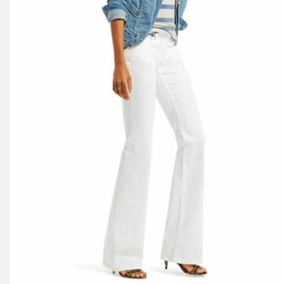 66f0cbf36667 NWT CAbi White Wide Leg Jean